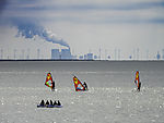 water sports and coal power plant
