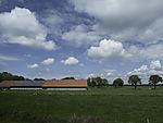 Solarzellen auf Dach vom Bauernhof