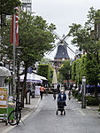 pedestrian area and windmill in Norden