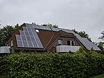 Solarzellen auf Wohnhaus