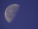waning gibbous Moon on day sky