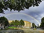 doppelter Regenbogen über Hamburg