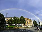 Regenbogen über Hamburg