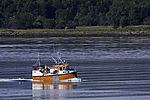 kleines Fischerboot im Sandnessund