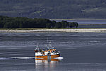 small fishing boat in Sandnessund