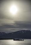 norwegian icebreaker Kronprins Haakon under the sun