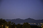 planets Jupiter and Sarturn on evening sky over Malangen