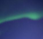 aurora in Big Dipper with satellite