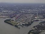 container terminal Waltershof in Hamburg harbour
