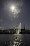 sun over lake Alster