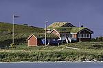 Ferienhaus mit Grasdach