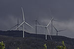 windpark Kvitfjell on island Kvalöya