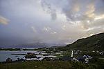 Ferieninsel Hellesöya im Abendlicht