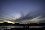 cloudy evening sky over island Kvalöya