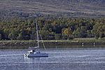 sailing boat before island Grindöya