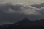 mount Mjeldskardtinden and clouds