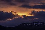 evening clouds over mount Skittentinden
