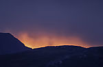 flamy evening light over island Kvalöya