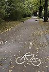 E-Roller liegen auf Radweg